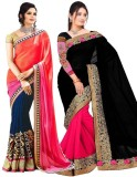 JENNY Embroidered Bollywood Georgette Sa...