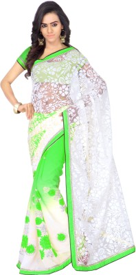 Radha Krishna Self Design, Embriodered Fashion Chiffon Sari