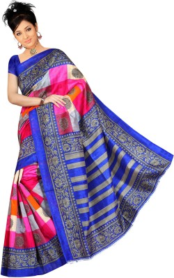 Panash Trends Printed Fashion Art Silk Sari