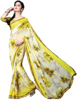 365 Labels Printed Bollywood Georgette Sari