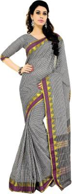 Jannat Checkered Fashion Cotton Sari