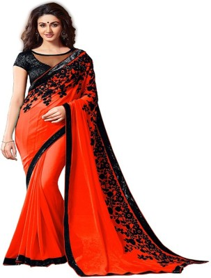 We Care Creation Embriodered Bollywood Georgette Sari