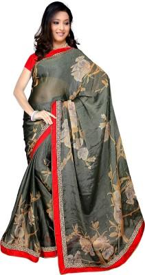 Mahesh Traders Printed Bollywood Synthetic Chiffon Sari