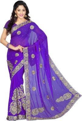 DesiButik Embriodered Fashion Art Silk Sari