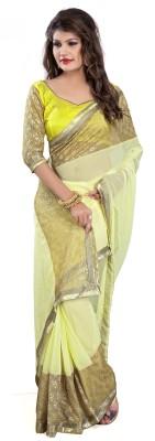 Om Shree Vallabh Self Design Banarasi Chiffon Sari