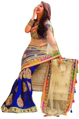 Supriya Fashion Self Design Bollywood Net Sari