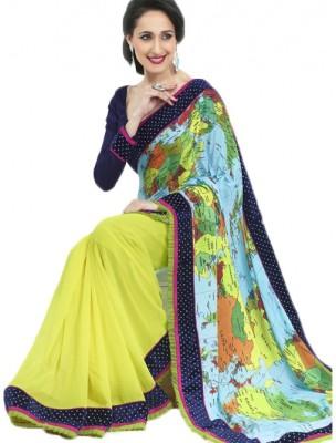 Vani Printed Fashion Lycra Sari