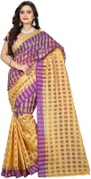 Party Wear Dresses Printed Fashion Cotton Sari(Purple)