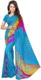 Kmozi Floral Print Bandhej Art Silk Sare...