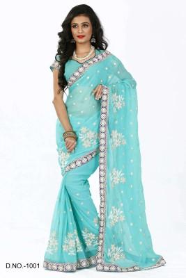 Yash Fashion Of Embrodery Embriodered Fashion Chiffon Sari