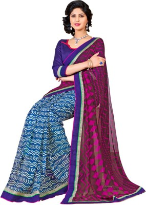 shart Printed Fashion Georgette Sari