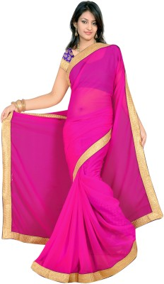 Sonika Solid Daily Wear Chiffon, Chanderi Sari