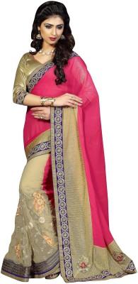 Aarushi Fashion Embriodered Chanderi Chiffon Sari