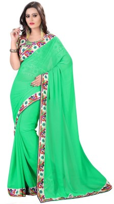 Nena Fashion Self Design Fashion Georgette Sari