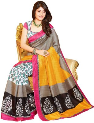 Shreekarnifashion Printed Bhagalpuri Handloom Cotton Sari