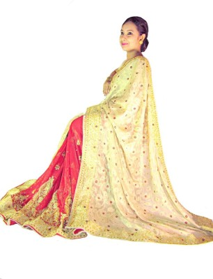 Home Design Self Design, Embriodered Bollywood Handloom Silk Sari