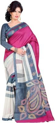 Saran Applique Fashion Art Silk Sari