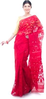 Brishti Creations Woven Jamdani Handloom Silk Sari