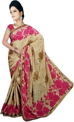 Jannat Printed Bollywood Georgette, Silk Sari