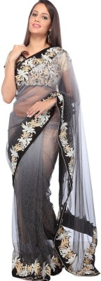 Velli Self Design Fashion Net Sari