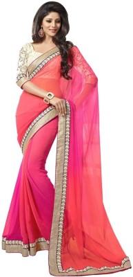 R D Fab Solid Bollywood Pure Chiffon Sari