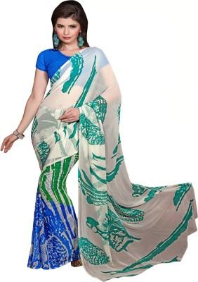 Diva Divine Self Design Fashion Georgette Sari