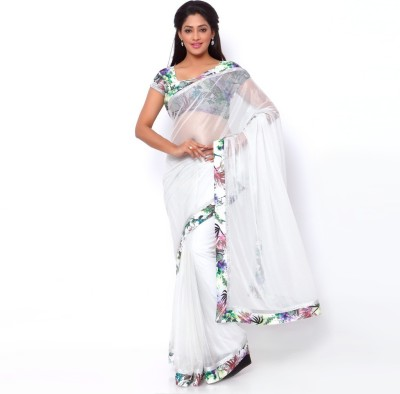 Ziyaa Floral Print Daily Wear Lycra Sari