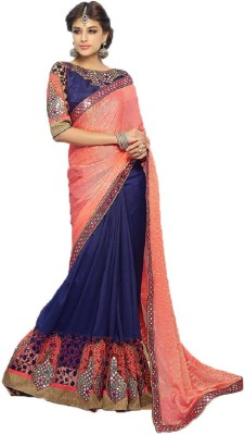 Cozee Shopping Embriodered Fashion Georgette, Jacquard Sari