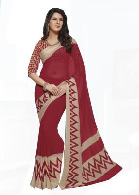 Rajhans Fashion Embellished Fashion Georgette Sari