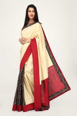 Sujatra Solid, Printed Fashion Tussar Silk Sari