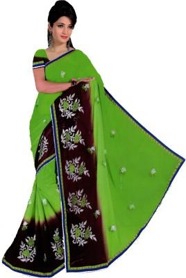 Bosan Fashion Embriodered Bollywood Chiffon Sari