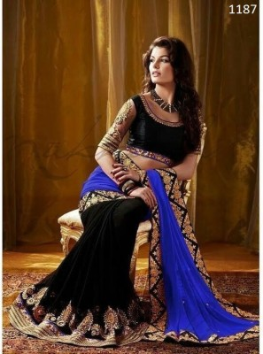 Radhe Studio Embriodered Fashion Georgette Sari