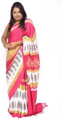 Gulmohaar Printed, Geometric Print Bollywood Jacquard Sari