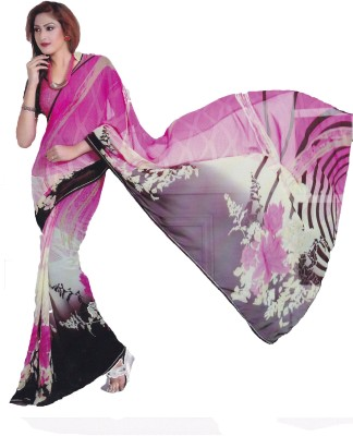 Jhumri Digital Prints Bollywood Pure Chiffon Sari
