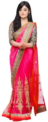 Temptingg Fashions Embriodered Bollywood Net Sari