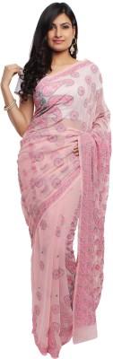 Chikinmania Self Design Lucknow Chikankari Georgette Sari