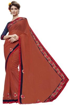 DesiButik Self Design Fashion Georgette Sari