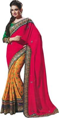 Handicana Self Design Lehenga Saree Georgette Sari