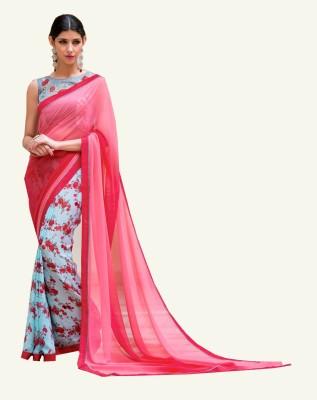 NARGIS FASHION Printed Fashion Georgette, Net, Cotton Sari