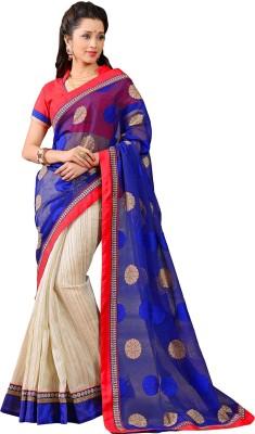 Vonage Printed Bollywood Linen, Jacquard Sari