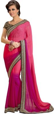 Resham Fabrics Self Design Fashion Chiffon Sari