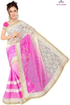 Shree Vallabh Embriodered Fashion Net Sari
