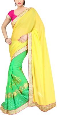 Awesome Self Design Fashion Chiffon, Georgette Sari