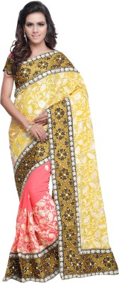 Navyafabrics Embriodered Fashion Georgette Sari