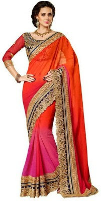 Giftsnfriends Embriodered Bollywood Georgette Sari