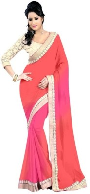 Manglam Sarees Self Design Bollywood Georgette Sari