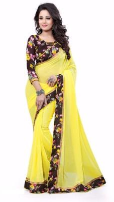 Avsar Prints Self Design Bollywood Georgette Sari
