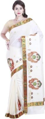 BrindavanSilks Applique Fashion Cotton Sari