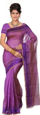 Right Shape Solid Chettinadu Polycotton Sari