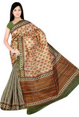 Eagle Fashion Printed Rajshahi Handloom Georgette Sari